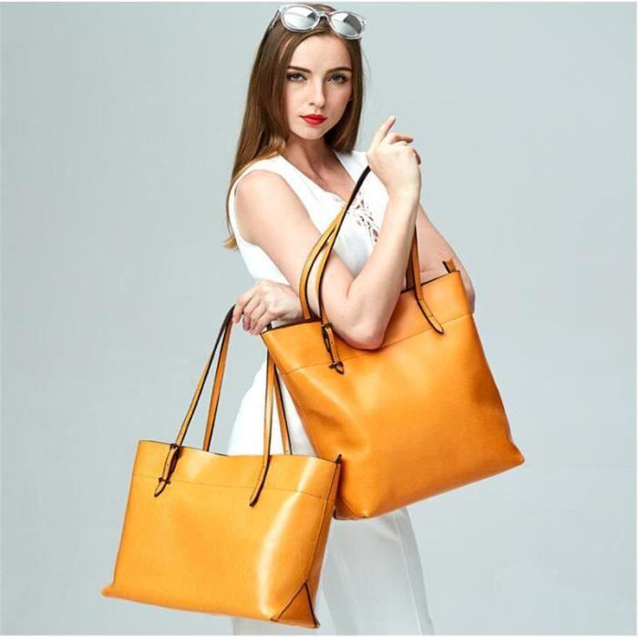sac à main femme sac à main De Luxe Femmes Sacs Designermeilleure qualité jaune1 sac à main cuir Nouvelle mode sac bandouliere