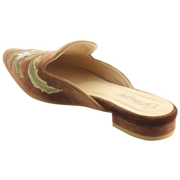 Leather Open Toe Slip On Slippers Summer Sandals Shoes Flip Flops TN9X6 Taille-39 RZaZ1HI
