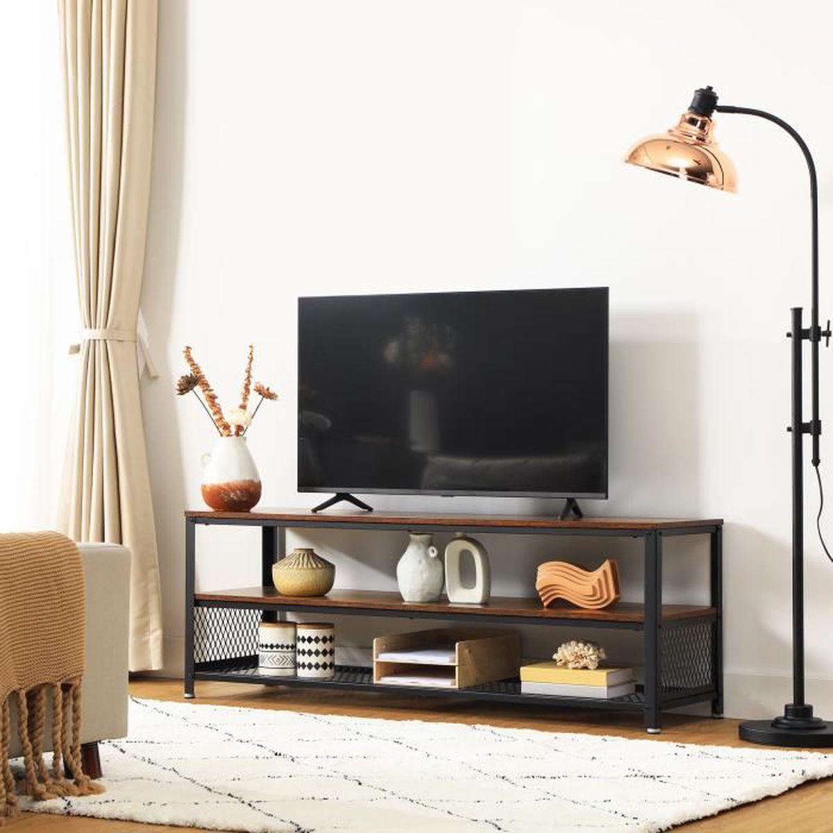 VASAGLE Meuble TV vintage, Modèle long, Table basse de salon ...