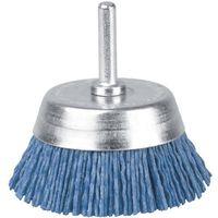 BROSSE PINCEAU SUR TIGE Brosse conique nylon bleu SCID - Diamètre 75 mm