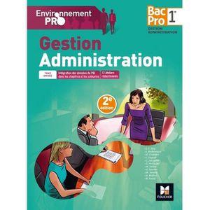 LIVRE GESTION Gestion administration 1re Bac pro Environnement p