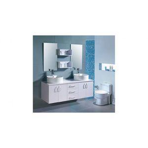 SALLE DE BAIN COMPLETE L'Atlantic Blanc : Ensemble salle de bain , 2 vasq