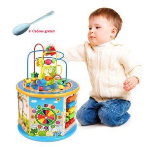 Abats-Jour Sûr et respectueux de lenvironnement Jouet en bois pour tout-petits bébé pousser le long du jouet pour les enfants