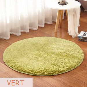 tapis rond vert achat vente tapis rond vert pas cher cdiscount. Black Bedroom Furniture Sets. Home Design Ideas
