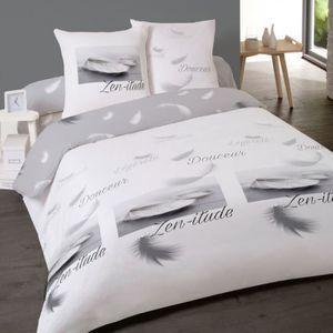 housse de couette flanelle achat vente housse de couette flanelle pas cher cdiscount. Black Bedroom Furniture Sets. Home Design Ideas