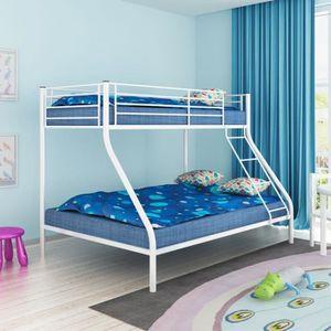 LITS SUPERPOSÉS P12  Cadre de lit superpose pour enfant 200x140/20