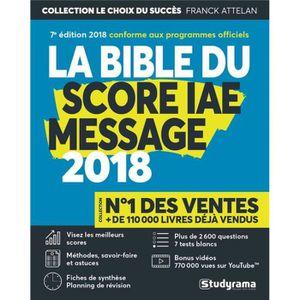 LIVRE CARRIÈRE EMPLOI Livre - la bible du score IAE message (édition 201