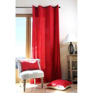 RIDEAU Rideau Uni aux Couleurs Pétillantes Rouge 140 x 28
