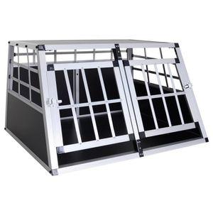 CAISSE DE TRANSPORT Cage de transport pour chien en aluminium xl noir