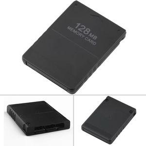CARTE MÉMOIRE CONSOLE MOONAR® Carte mémoire 128 Mo pour PS2 NOIR