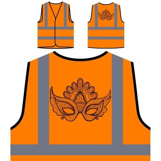 Veste Beau À Personnalisée nouveau Masque De D'art Ha Haute Protection Orange Visibilité rFCrnvq