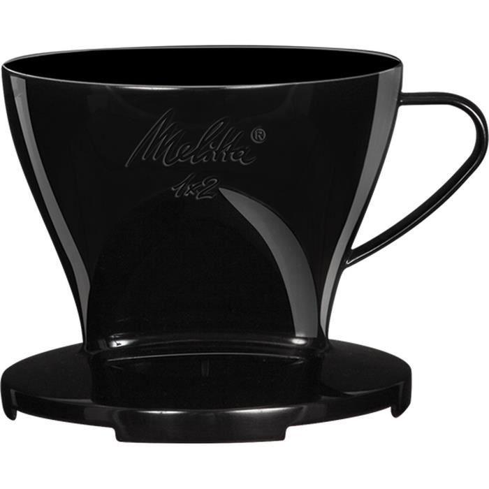 MELITTA Porte-filtre à café 1x2 - Noir
