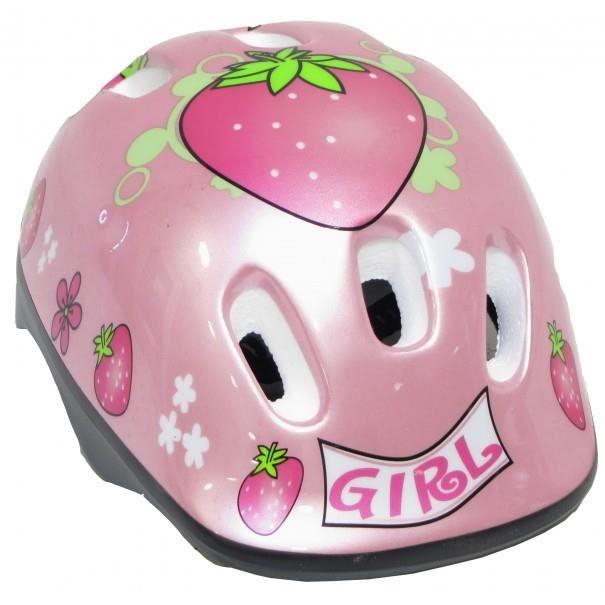 CASQUE DE VÉLO Casque de vélo rose Girl Fraises