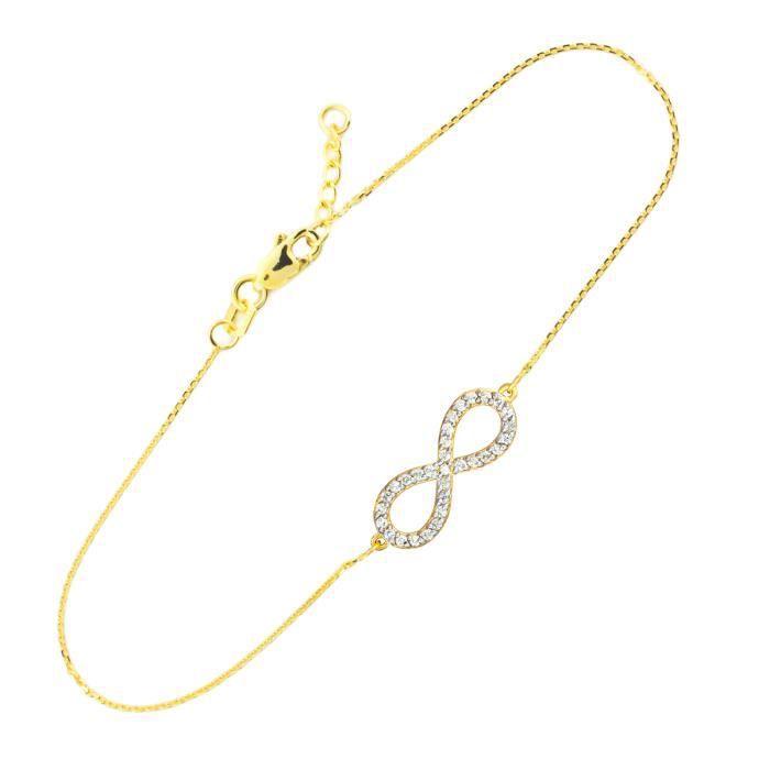 14 ct 585/1000 Diamants en orInfinitété Bracelet-