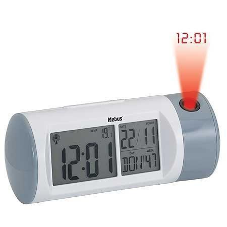 Radio r veil avec projecteur d 39 horaire mebus 51355 achat for Reveil de salle de bain