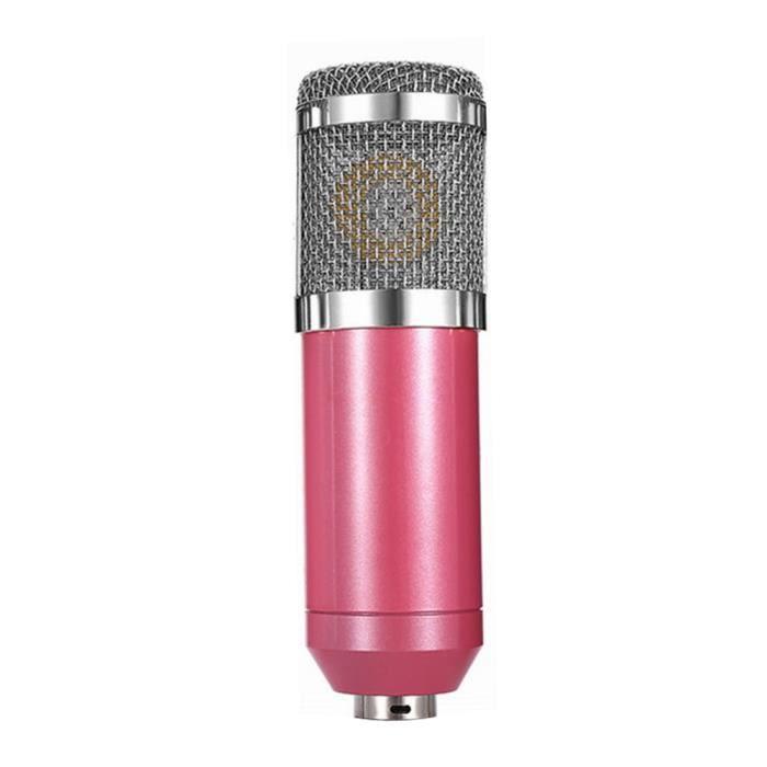 Microphone Équipement D'enregistrement Professionnel De Studio Sensibilité Élevée Rose