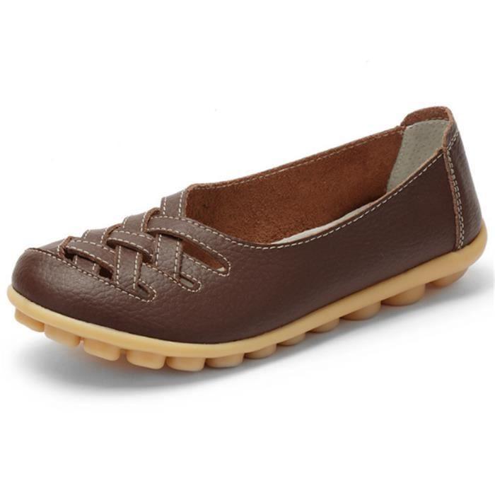Chaussures femmes Antidérapant Durable 2017 ete printemps Marque De Luxe Moccasins de plein air azur Grande Taille 34-42