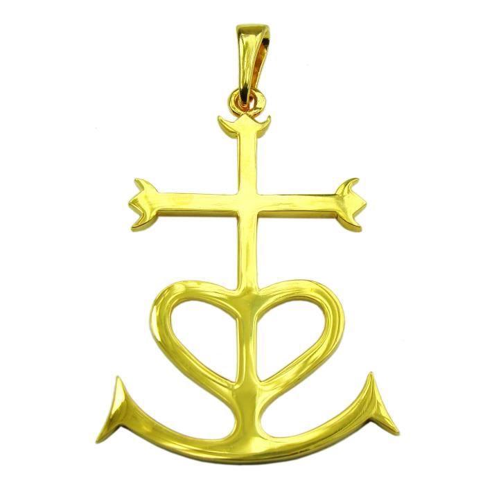 Croix de camargue or - Achat   Vente pas cher ac00502c7a1