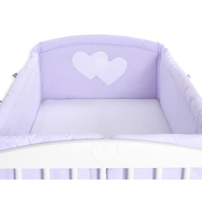 Tour de lit bébé complet 120*60 ou 140*70 mauve à - Achat / Vente ...