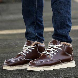 Botte Homme hiver court Jaune chaud Boot Double tirettes jaune taille8 KCsuD9WN