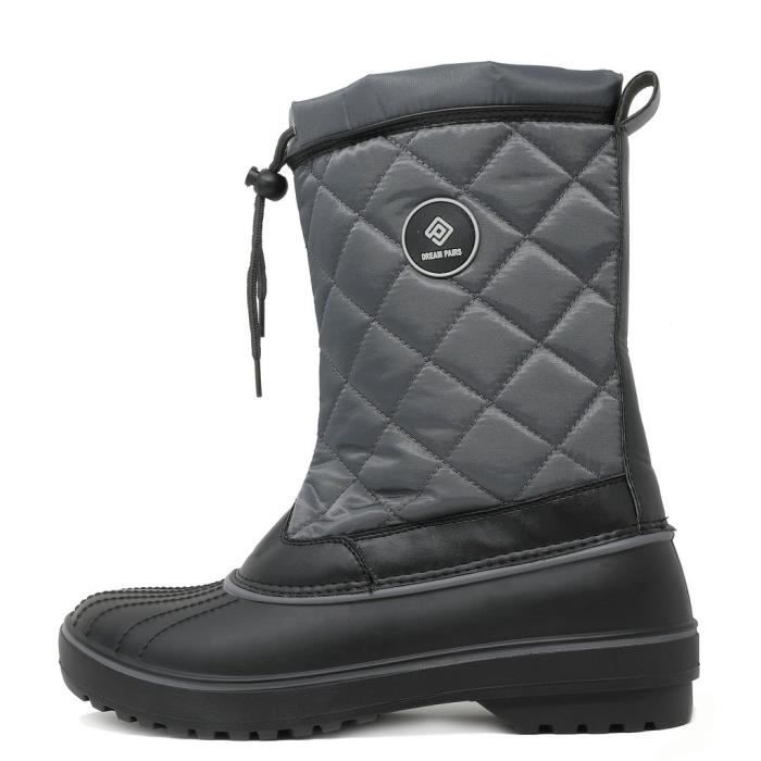 Dp-canada Faux Fur Lined Mid Calf Winter Snow Boots JU39B Taille-41