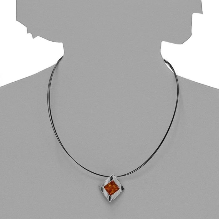 In Collections - 0011203530l100 - Collier Femme - Argent 925-1000 - Ambre OX0SI