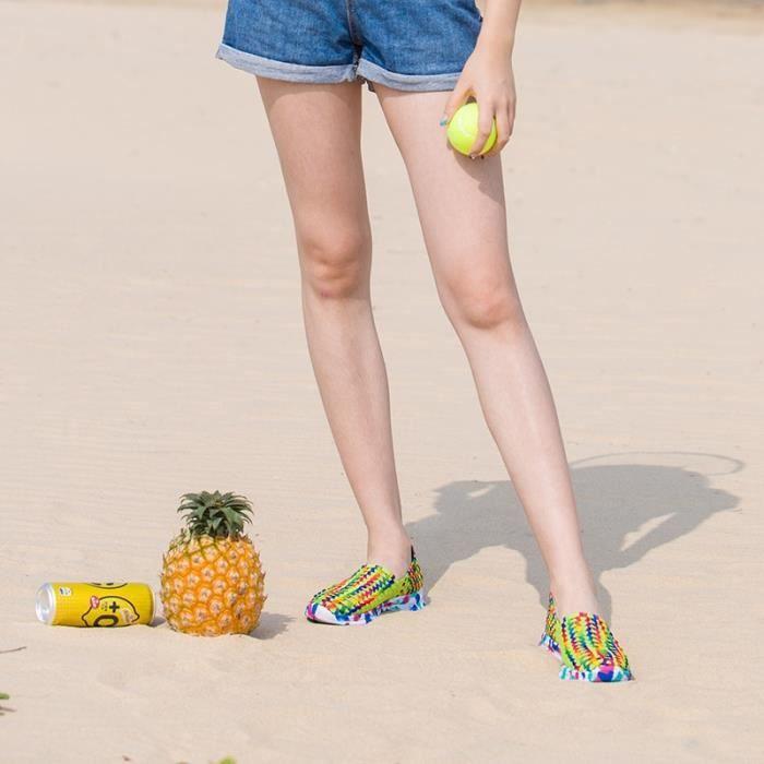 Femmes Chaussures d'été Flat Femme Mocassins Femmes Flats Casual Tissé Chaussures Slip On Shoe Colorful Plus Size 41,rose,36
