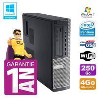 UNITÉ CENTRALE + ÉCRAN PC Dell 790 DT Intel G630 4Go Disque 250Go Graveur