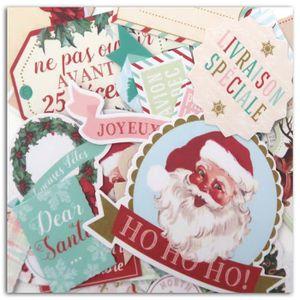 TOGA Lot de 40 Mots découpés - Imprimés Dear Santa
