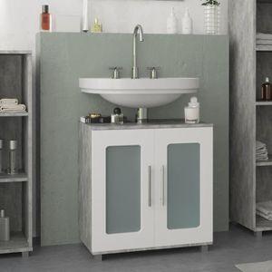 meuble salle de bain avec vasque 60cm sur pied achat vente pas cher. Black Bedroom Furniture Sets. Home Design Ideas
