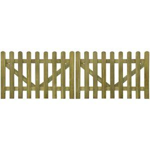 PORTAIL - PORTILLON P156  portail piquet en impregne bois 2 pcs 300 x
