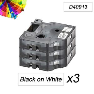 RUBAN - ENCREUR 3 x Étiquette de compatibilité Dymo 40913 pour Dym