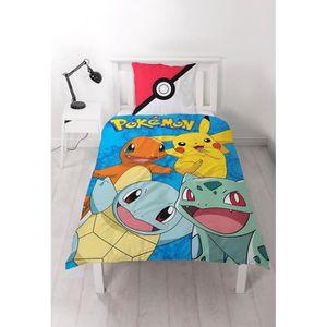 PARURE DE DRAP Parure de lit Pokemon 100% coton - Housse de couet