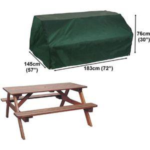 HOUSSE MEUBLE JARDIN  Housse pour table pique-nique confort 183x145cm