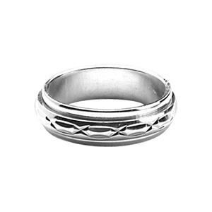 ALLIANCE - SOLITAIRE ALLIANCE ANTI-STRESS HOMME 6mm ARGENT