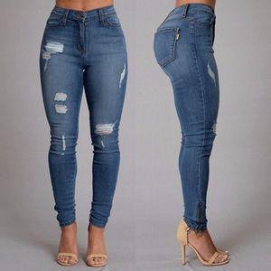 Pantalon slim jean femme - Achat   Vente pas cher 67afe23157f8