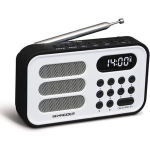 RADIO CD CASSETTE SCHNEIDER SC150ACLWHT Radio Portable Handy Mini -