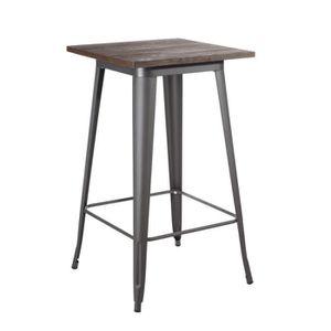 Mange debout style industriel achat vente pas cher - Table haute bois metal ...