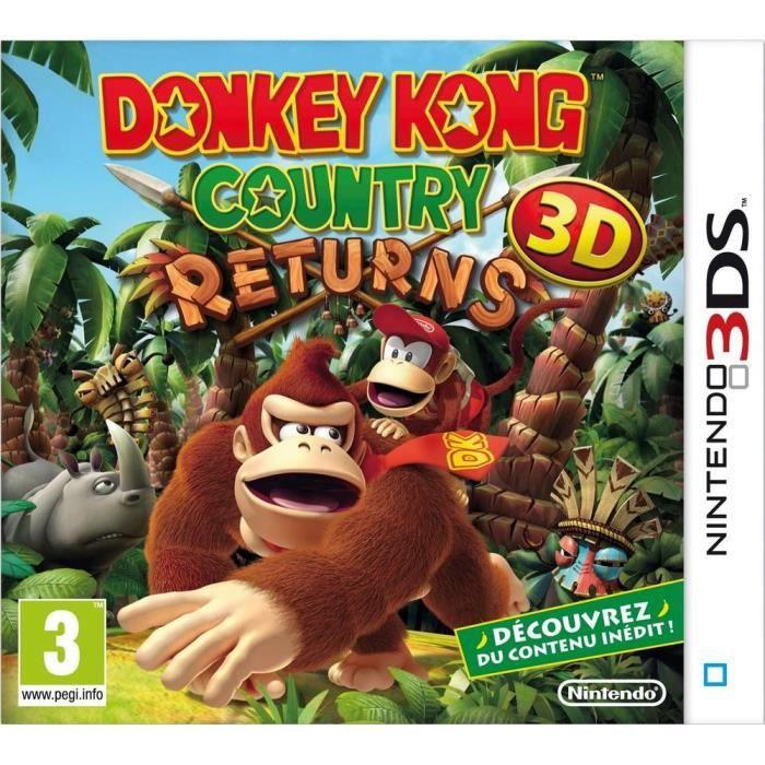 JEU 3DS Donkey Kong Country Returns 3D Jeu 3DS