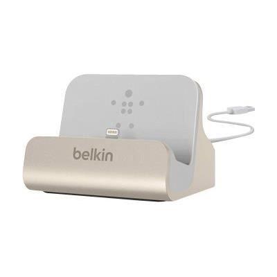BELKIN Station d'accueil charge et syncro avec connecteur lightning - Or