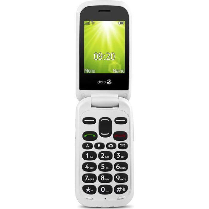 """Ecran 2.4"""" - Appareil photo 0.3 MP - Lampe torche - Affichage d'appel - SMS/MMS - Bouton d'urgence - Haut parleur - Réveil - Radio FM - Tone Key - Calendrier avec fonction de rappel - Clavier rétro-éclairé - Assistant d'installationTELEPHONE PORTABLE"""