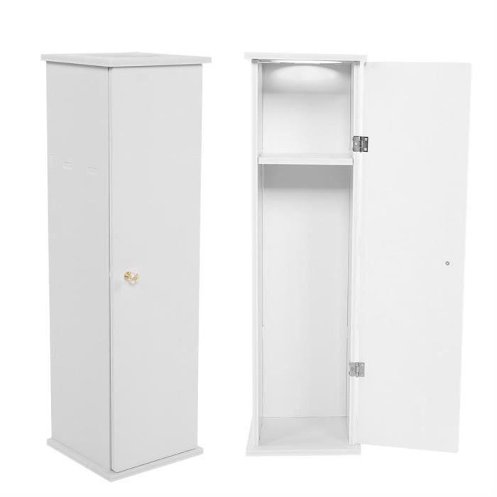Cabinet De Papier De Toilette Support De Meuble Pour Salle De Bain Blanc