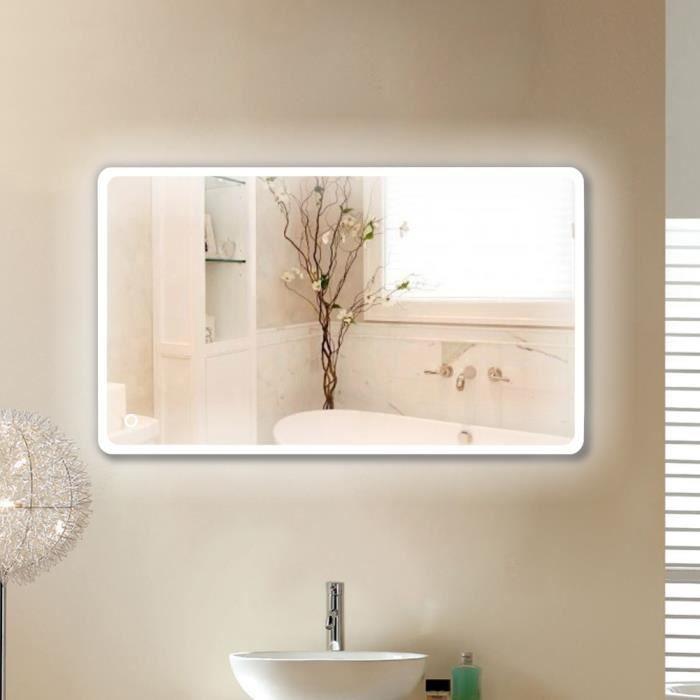 MIROIR SALLE DE BAIN Miroir de salle de bain L 120 cm - LED à commande