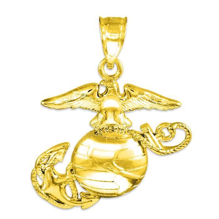 Collier Pendentif14 ct Or 585/1000 US Marine Corps Medium
