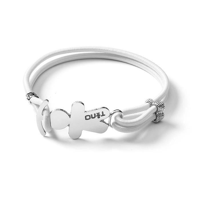 Tino génération Bracelet élastique ce qui est votre couleur Blanc