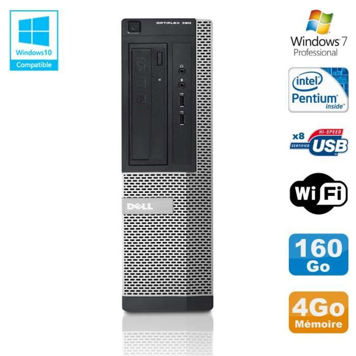 UNITÉ CENTRALE  PC DELL Optiplex 390 DT G630 2.7Ghz 4Go 160Go Grav