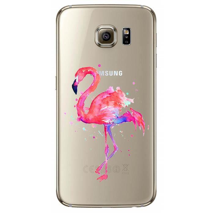 coque iphone 8 plus flamant rose