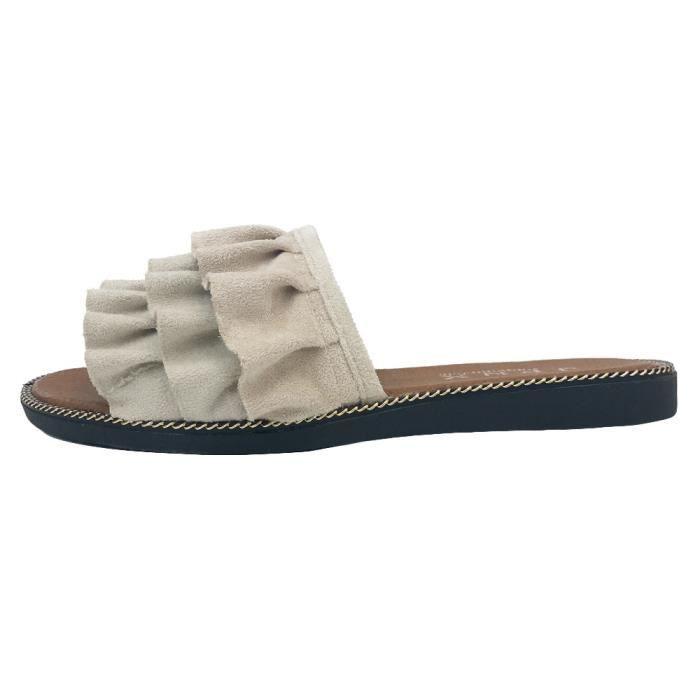 D'été Extérieur Femmes Les Plageblanc De Chausson Chaussures Intérieur Tongs Sandales TBOwwxq5v