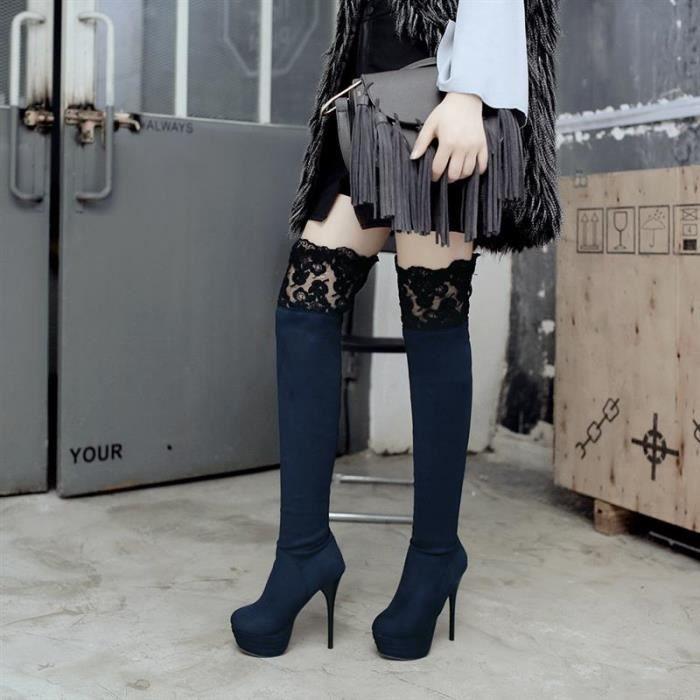 Femme Botte Talons Hauts Genou Longue Slim Fit Confortable Young Doux Nouveau Aimable Individualité