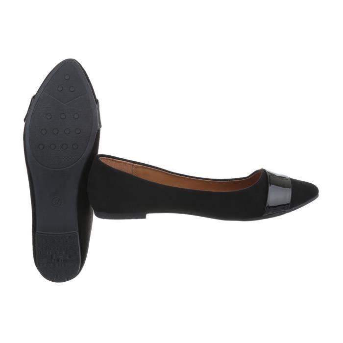 36 Chaussures Femme Les Noir Ballerines L'escarpin CwTXq6w